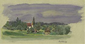 Carl Kessler (1876-1968) : Schloß Feldegg. - Aquarell