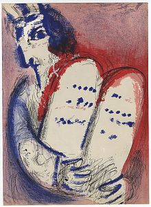 Marc Chagall : Moses III. - Farblithographie. - Bibel, 1956