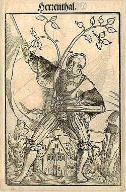 Jakob Kallenberg : Landsknecht - Herrenthal - Holzschnitt, 1545
