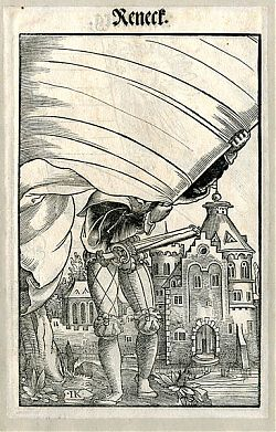Jakob Kallenberg : Landsknecht - Reneck - Holzschnitt, 1545