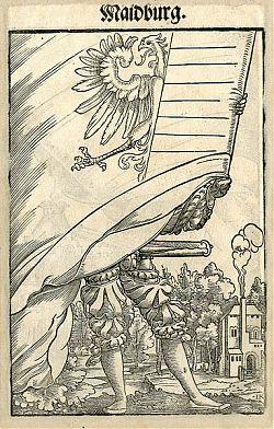Jakob Kallenberg : Landsknecht - Maidburg - Holzschnitt, 1545