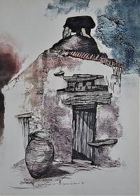 Ankauf alte & moderne Graphik in München // Rupert Rosenkranz (1908 Aichdorf/Österreich-1991 Hamburg) : XENIANA - KRETA. - Elektrographie, 1979 // https://www.ankauf-grafik.de