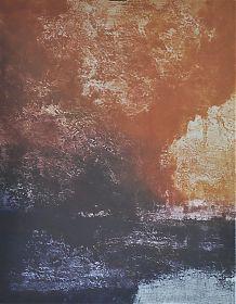 Rupert Rosenkranz (1908 Aichdorf/Österreich-1991 Hamburg) : SANDSTURM - Elektrographie, 1972 - www.ankauf-grafik.de - Ankauf Graphik in München