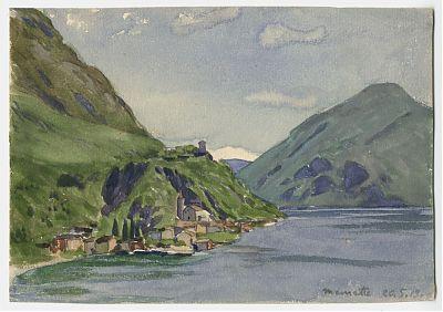 Carl Kessler (1876-1968) : Lago Lugano