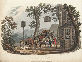 Charles B. Newhouse : A Disagreable Tune. Original coloured aquatint, 1834. - Ankauf alte Graphik/Stiche - Graphik-Handel Joseph Steutzger - https://ankauf-grafik.de