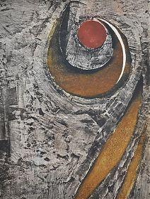 Kunst in Wasserburg am Inn : Rupert Rosenkranz (1908 Aichdorf/Österreich-1991 Hamburg) : Einrollung II - Elektrographie, 1990 // https://ankauf-grafik.de - Ankauf Graphik in München