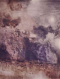 Rupert Rosenkranz (1908 Aichdorf/Österreich-1991 Hamburg) : Aufbrechender Nebel. - Elektrographie, 1975 // Ankauf Graphik in Münche
