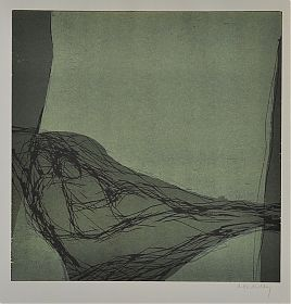 Antje Wichtrey : Umarmung - abrazo. - Farbholzschnitt, 1995/96 - Graphik-Antiquariat Joseph Steutgzer - Ankauf moderne Grafik
