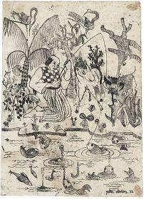 Petra Clemen (Bad Endorf/Chiemgau) : Chinesische Phantasie. - Radierung / Kunsthandel Joseph Steutzger