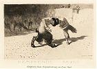 Franz von Stuck : Kämpfende Faune. Radierung 1892 / Graphik-Antiquariat Joseph Steutzger / Grafik-Ankauf