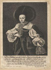 Porträt: Esther Besserer - Kupferstich Sandrar/Preißler, 1660