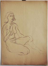 Zuschreibung : Fritz Wimmer: Zeichnung