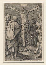 Jan Muller/Lucas van Leyden: Kreuzigung, Kupferstich - Antiquariat Steutzger