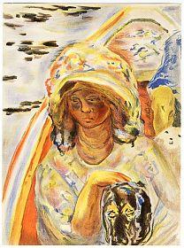 Pierre Bonnard: Jeune fille dans une barque - Farblithographie, Verve, 1939 - Kunsthandel Steutzger