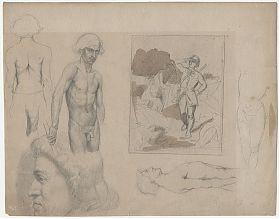 Zuschreibung: Ludolf Meyer (*1848 Hannover-1922 München): Bleistift-Studien - Antiquariat Steutzger