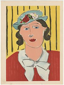 Matisse: Femme au chapaeu - Farblithographie aus VERVE, 1939 - Antiquariat Steutzger