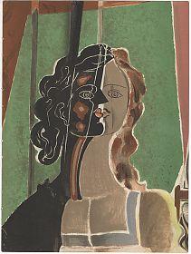 Georges Braque: Figure. Farblithographie, aus VERVE, 1939 - Antiquariat Joseph Steutzger