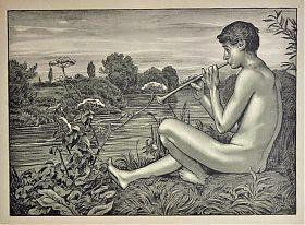 Hans Thoma: Abend / Kombinationsdruck (~ Algraphie), 1896